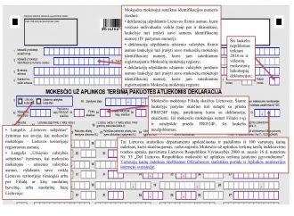 Mokesčio už aplinkos teršimą pakuotės atliekomis deklaracijos FR0524 formos pildymas (atsisiųskite nemokamai)